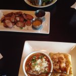Lunch special with jalapeno sausage plate