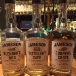 Selection of new Jameson whiskey in the bar