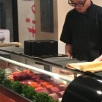 Sushi chef is fast. Sushi always tasty and fresh!