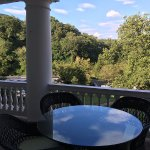 The balcony overlooking the great lawn- Room 1286