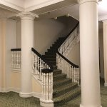One of the many stairways in the labyrinthine hallways