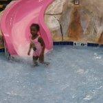 Kimora enjoying the kids pool