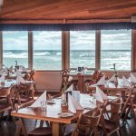 enjoy a lovely sea view with your meal