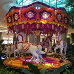 The carousel completely made of flowers