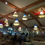 Interesting colorful ceiling lamps
