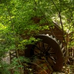 Grist mill water wheel