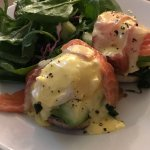 Salmon Eggs Benedict - Room Service Breakfast