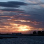 A Typical marina Sunset