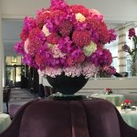 Hotel restaurant-there is a flower arranger on staff