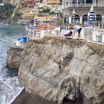 looking at main area of positano