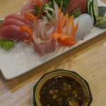 Sushi with sauce