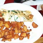 Angelos Homestyle Restaurant - Egg white spinach omelette with feta cheese.