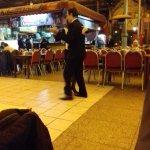 Dançando tango.
