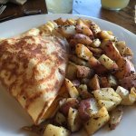 Hawaiian Crepe with potatoes on the side