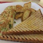 Omelette breakfast meal