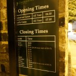 ensure your opening times