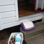 poubelle à l'image de la propreté du mobilhome
