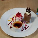 Trio of deserts - Chocolate Mousse, Meringue Mess and Creme Brulee