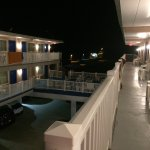 My Motel Room And The View From The End Of The Balcony...