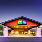 Holiday Inn Express Aurora Exterior Twilight!