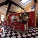 This is the American style diner which is shared by all guests