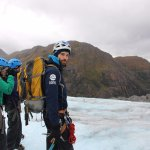 Exploring the Lemon Glacier with our Above & Beyond guide