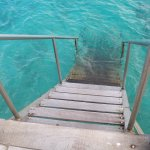 You can giant stride or walk in. Great for scuba, snorkel, or swim