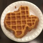 Texas shaped waffles! They have other great breakfast items too!