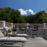 The Cadillac Room's private balcony deck. Perfect for enjoying breakfast, cocktails, or sunbathi
