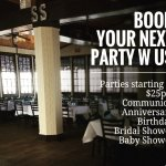 private parties starting at $25 pp