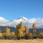 taken from our porch on sep 25...fall foliage and snow on the tetons!