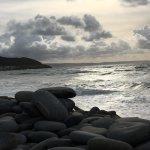 High tide westward Ho beach