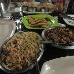 Veg.manchurian and fried rice
