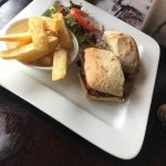 Steak ciabatta & fish finger butty