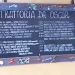 outdoor sign and menu