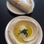 Hummus and warm pita!