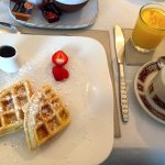 Lots of breakfast options and made to order choices like belgian waffles