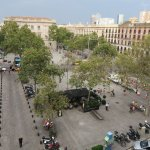View from the 4th floor (George Orwell) - La Terrassa cafe below