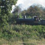 East Lancs railway, seen from Burrs park caravan site.