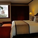 Junior Suite King:  cama king size, TV por cable, wifi, calentador, minibar.