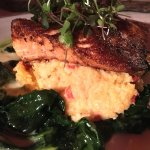 Salmon with Grits