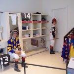 Jockey's locker room.