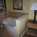Jacuzzi tub in one bedroom unit.