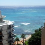 View from the balcony of Waikiki Beach from Room 1818