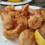 Fried shrimp, scallops, and fish (First Mate's Platter)
