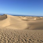 The local sand dunes in Maspalomas, which you cross to get to the golden sandy beaches!