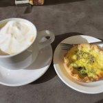 latte and quiche