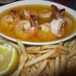 Shimp Scampi with House Fries