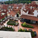 Valoria Restaurant (viewed from top of Prague Castle wall