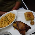 corn bread, mac and cheese